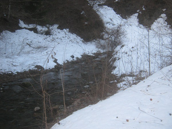 3月の渓流